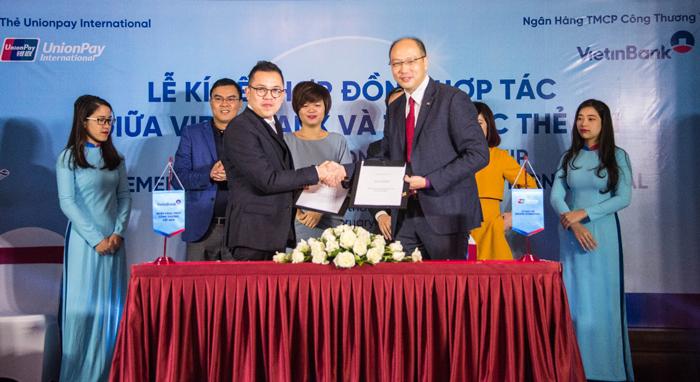 Ký kết hợp đồng hợp tác giữa VietinBank và UnionPay International