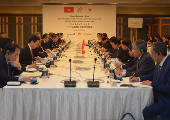 Prime Minister Nguyen Xuan Phuc chaired Dialogue with leading Japanese corporations